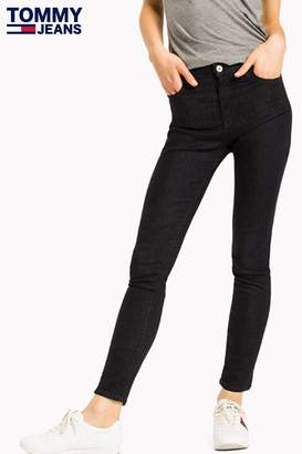 Tommy Jeans Womens High Rinse Skinny Fit Jean - Blue