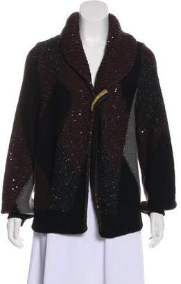 Oscar de la Renta Vintage Sequin Cashmere-Blend Cardigan