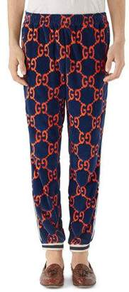 Gucci GG Logo-Print Chenille Track Pants