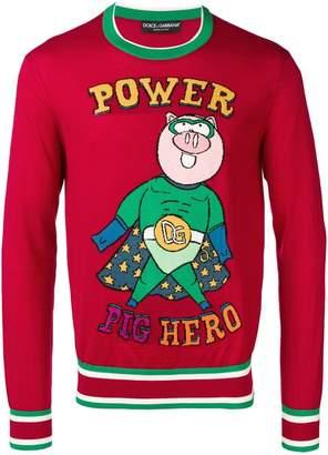 Dolce & Gabbana Pig Hero jumper