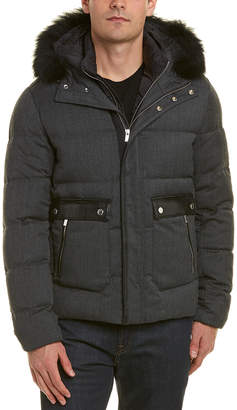 The Kooples Leather-Trim Jacket