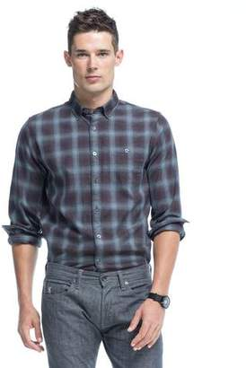 Todd Snyder Button Down Shirt in Brown Plaid Flannel