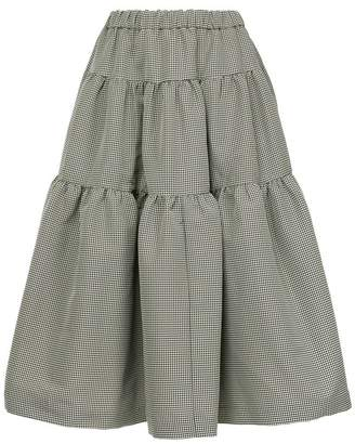 Co houndstooth print skirt