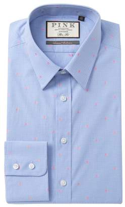 Thomas Pink Linden Spot Slim Fit Dress Shirt