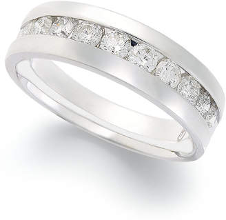 Macy's Diamond Band Ring in 14k White Gold (1 ct. t.w.)