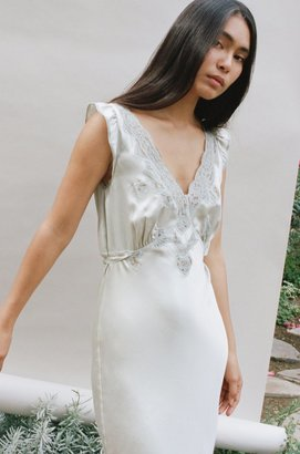 Lily Ashwell Mary Dress - Sage Silk