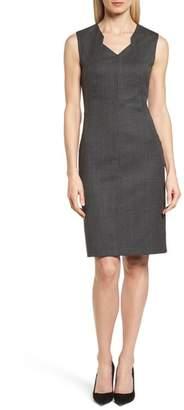 BOSS Dokysa Stretch Wool Sheath Dress