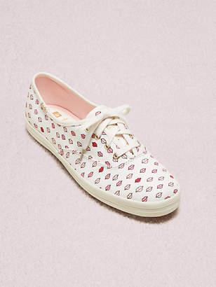 Kate Spade Keds X Champion Lips Sneakers, White - Size 6.5