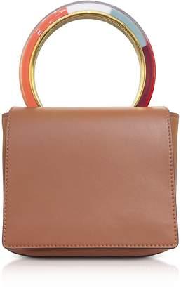 Marni Maroon Leather Pannier Bag