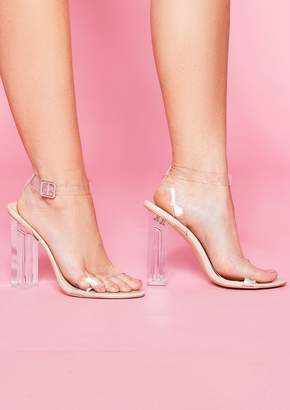 287a7d54a59 Missy Empire Missyempire Peggy Nude Perspex Strappy Heels