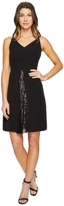 Maggy London Dream Crepe Fit and Flare Dress with Feminine Lace Women's Dress