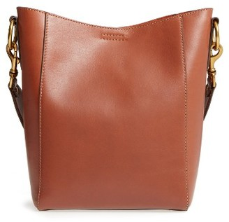 Frye Harness Leather Bucket Bag - Brown $428 thestylecure.com