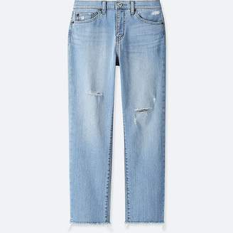 Uniqlo Women's High-rise Boyfriend-fit Jeans
