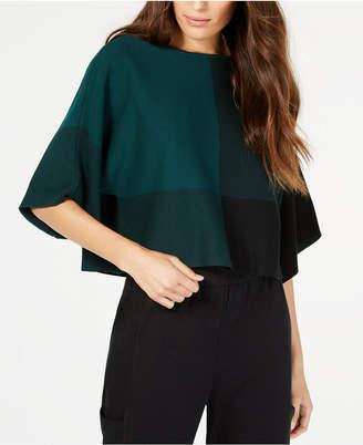 Eileen Fisher TencelTM Bateau-Neck Colorblocked Sweater, Regular & Petite