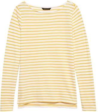 Banana Republic Slub Cotton-Modal Boat-Neck T-Shirt