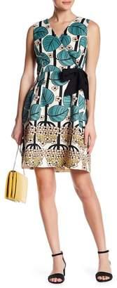 Eva Franco Caroline Print Faux Wrap Dress