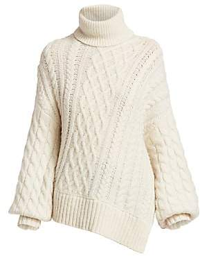 A.L.C. Women's Nevelson Cable Knit Turtleneck Sweater