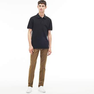 Lacoste Men's Slim Fit Print Stretch Twill Chino Pants