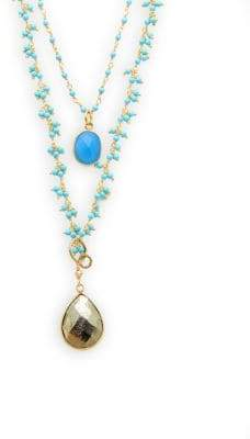 Turquoise & Chalcedony Layered Necklace