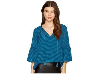 Kensie Ribbon Stripe Top KS9K4317 Women's Clothing