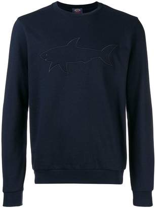 Paul & Shark embroidered shark logo sweatshirt