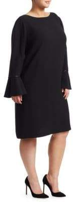 Lafayette 148 New York Lafayette 148 New York, Plus Size Jorie Velvet Flared Sleeve Dress