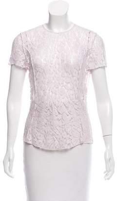 Nina Ricci Short Sleeve Lace Top w/ Tags