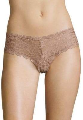 Fleur Du Mal Charlotte Lace Cheeky Lace Brief