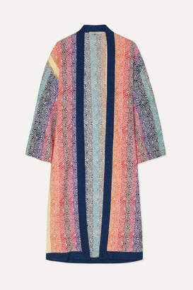 Mary Katrantzou Sola Glittered Jacquard-knit Cardigan - Pink