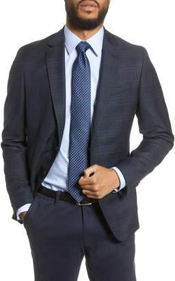 BOSS Nobis Trim Fit Plaid Wool Sport Coat