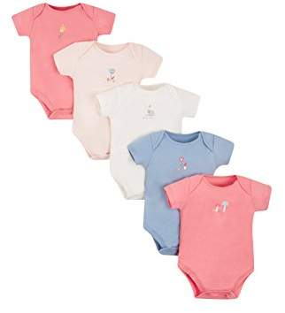 Mothercare Baby Girls' Floral-5 pack-MC412 Bodysuit,(Size: 056)
