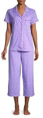 Karen Neuburger 2-Piece Button Front Shirt & Pants Pajama Set