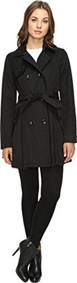 Betsey Johnson Women's Cotton Trench with Corset Back/Velvet Trim $59.99 thestylecure.com