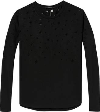 Scotch & Soda Long Sleeved Burn-Out Tee