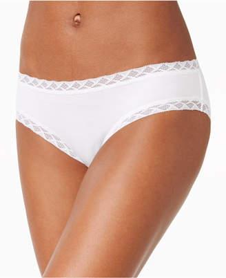 Natori Bliss Lace-Trim Cotton Brief 156058