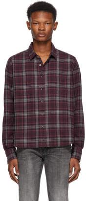 Saint Laurent Burgundy Check Shirt