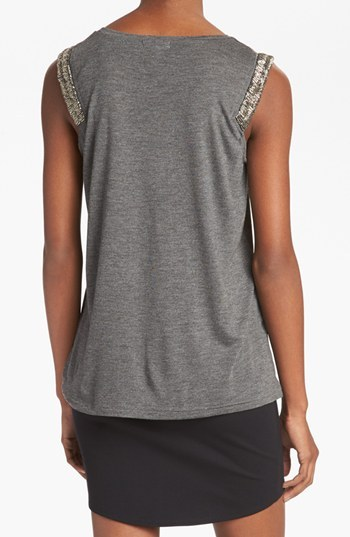 Leith Beaded Trim Tee
