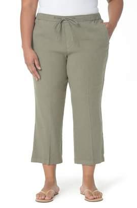 NYDJ Jamie Wide Leg Crop Pants (Plus Size)