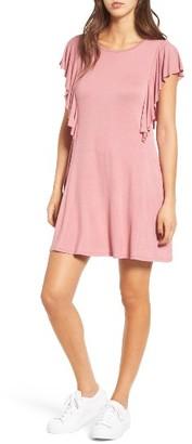 Women's Socialite Ruffle Sleeve T-Shirt Dress $45 thestylecure.com