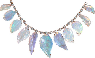 Irene Neuwirth JEWELRY Carved Opal Leaf Necklace