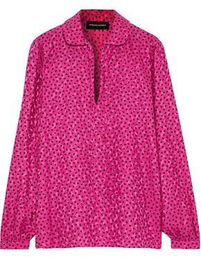 Vanessa Seward Federica Printed Silk-jacquard Blouse