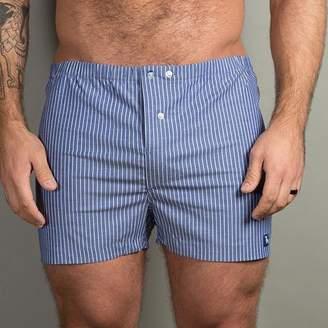 Blade + Blue Blue & White Stripe Boxer Short - Nicholas