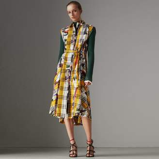 Burberry Archive Scarf Print Check Cotton Shirt Dress