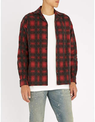 Represent Checked brushed-cotton shirt