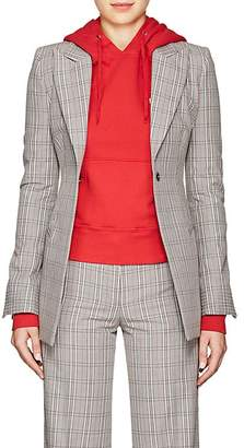 Off-White Women's Plaid Cotton-Blend Blazer