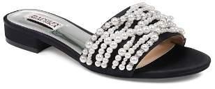Badgley Mischka Women's Florentina Faux Pearl & Rhinestone Slide Sandals