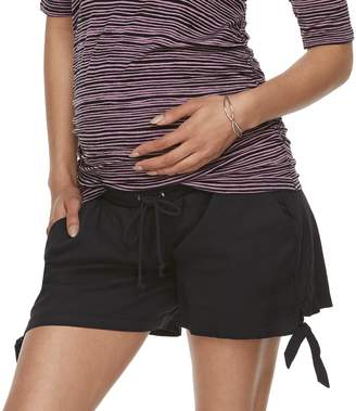 A Glow Maternity a:glow Knot Hem Shorts