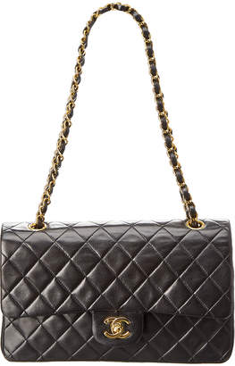 Chanel Black Quilted Lambskin Leather 2.55 Reissue 225 Double Flap Bag