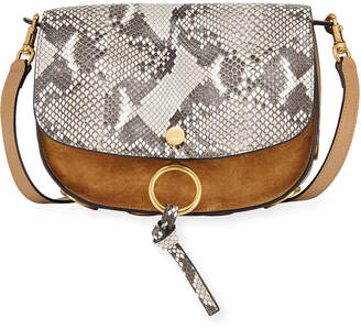 Chloé Mixed Suede and Python Shoulder Bag