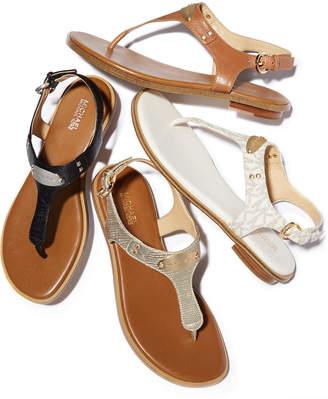 Michael Kors Plate Flat Thong Sandals
